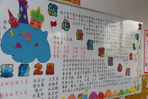 """杨凌高新小学 - """"社会主义核心价值观""""板报评比"""
