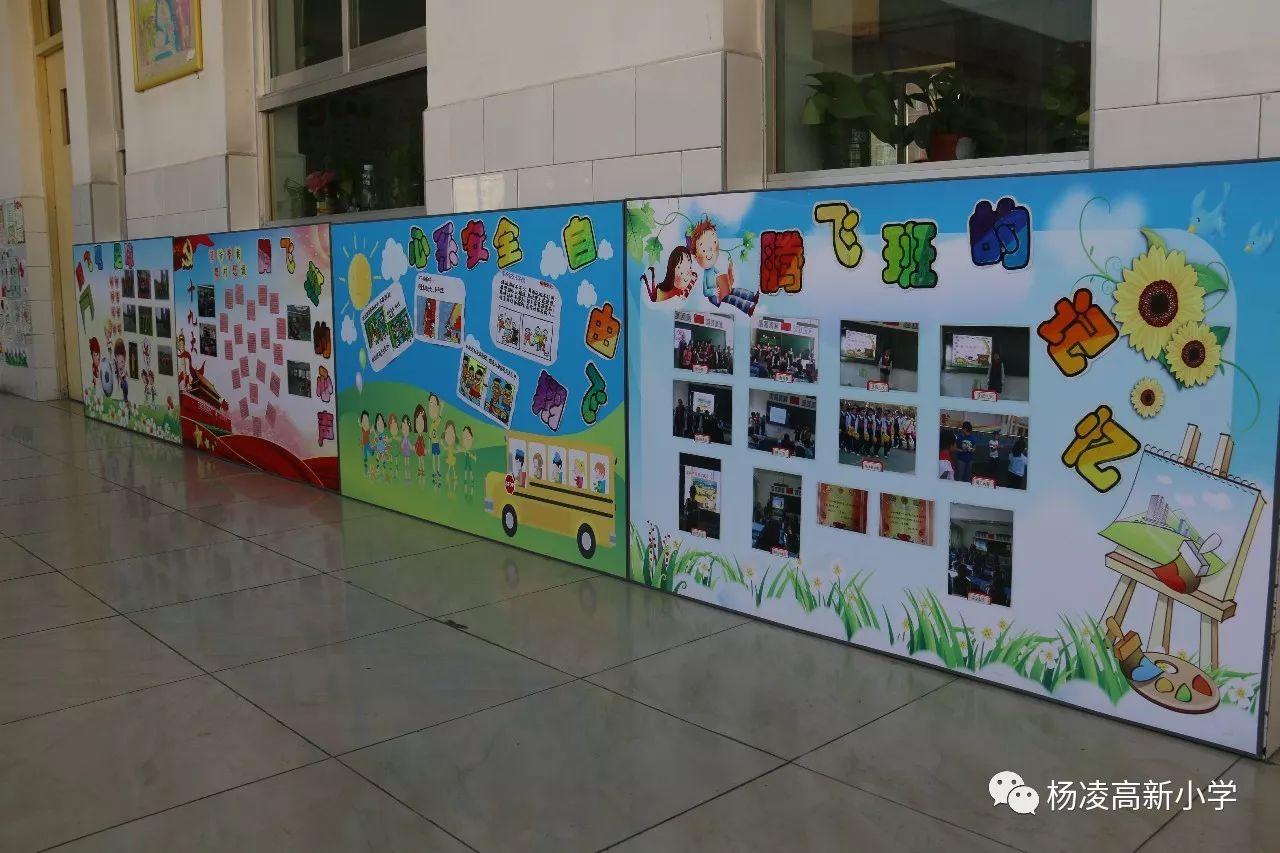 杨凌高新小学 - 打造校园走廊文化 展示学校新面貌